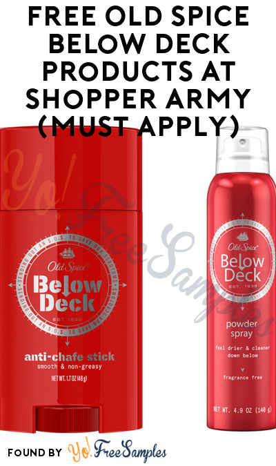 FREE Old Spice Below Deck Products At Shopper Army (Must Apply)