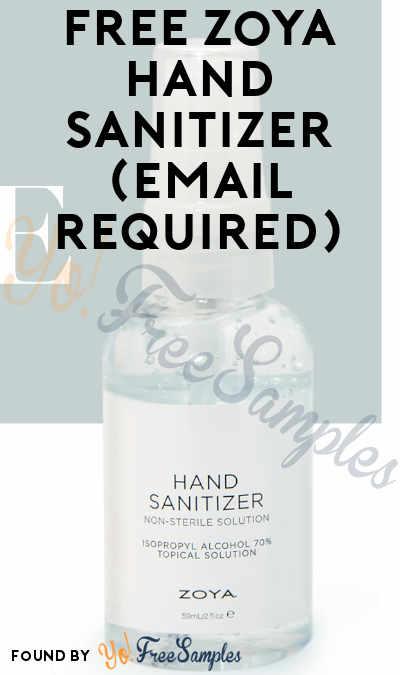 FREE Zoya Hand Sanitizer (Email Required)