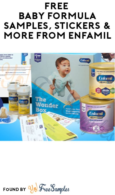 FREE Baby Formula Samples, Stickers & More from Enfamil