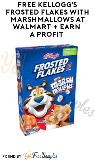 FREE Kellogg's Frosted Flakes at Walmart + Earn A Profit (Coupon & Ibotta Required)