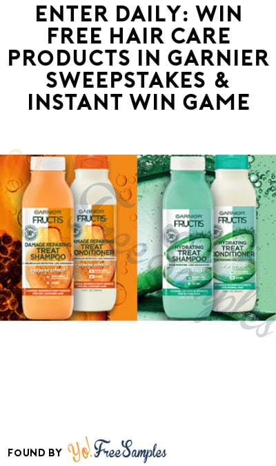 Enter Daily: Win FREE Hair Care Products in Garnier Sweepstakes & Instant Win Game