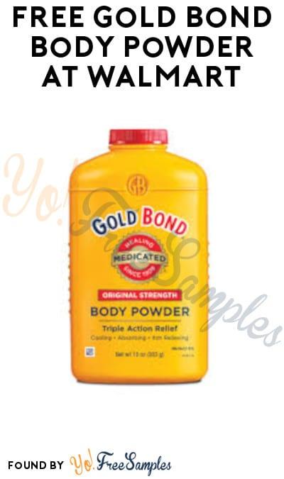FREE Gold Bond Body Powder at Walmart (Coupon Required)