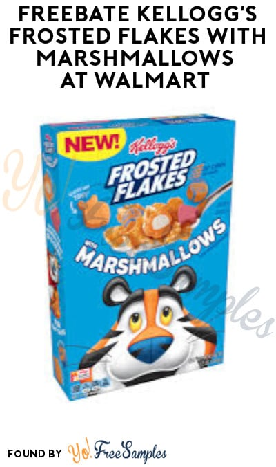 FREEBATE Kellogg's Frosted Flakes with Marshmallows at Walmart (Ibotta Required)