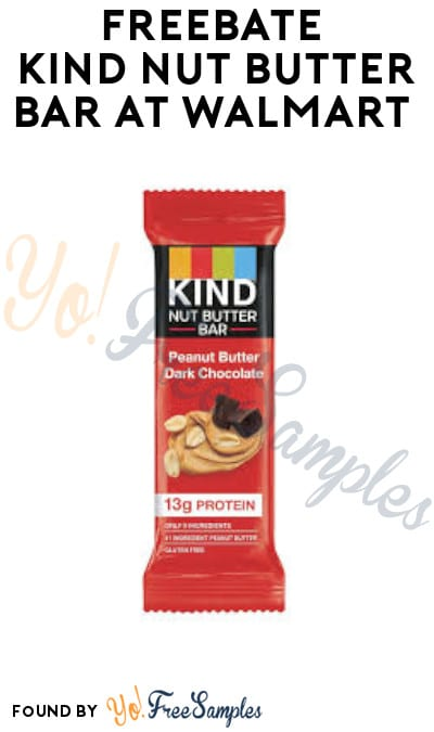 FREEBATE Kind Nut Butter Bar at Walmart (Ibotta Required)