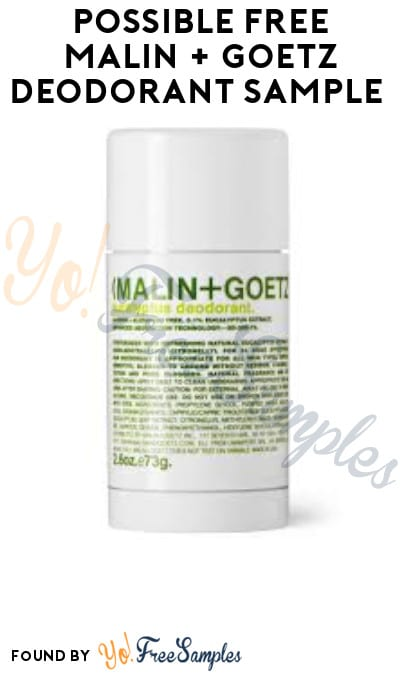 Possible FREE Malin + Goetz Deodorant Sample (Facebook Required)