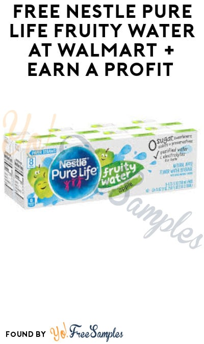 FREE Nestle Pure Life Fruity Water at Walmart + Earn A Profit (Coupon, Ibotta & Shopkick Required)