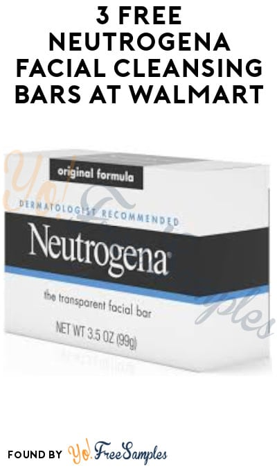3 FREE Neutrogena Facial Cleansing Bars at Walmart (Receipt Required)