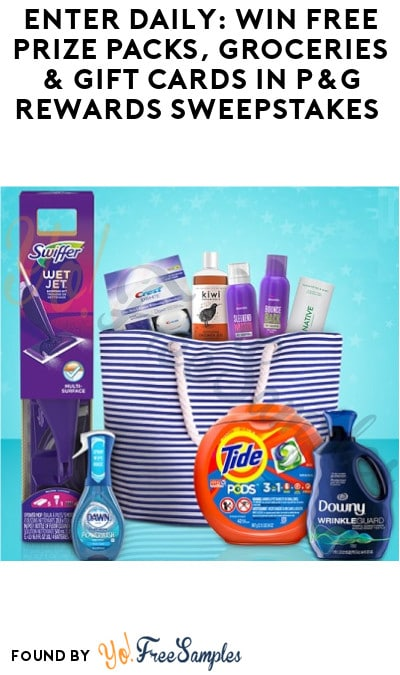 Enter Daily: Win FREE Prize Packs, Groceries & Gift Cards in P&G Rewards Sweepstakes