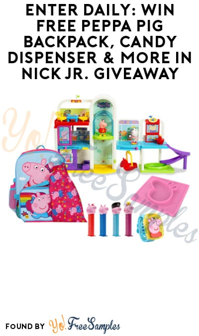 Enter Daily: Win FREE Peppa Pig Backpack, Candy Dispenser & More in Nick Jr. Giveaway
