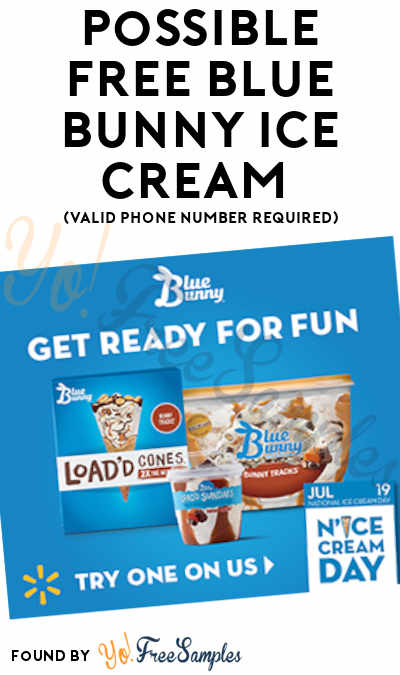 FREE Blue Bunny Ice Cream From Sampler (Valid Phone Number Required)