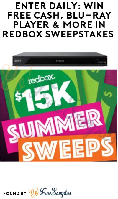 Enter Daily: Win FREE Cash, Blu-ray Player & More in Redbox Sweepstakes