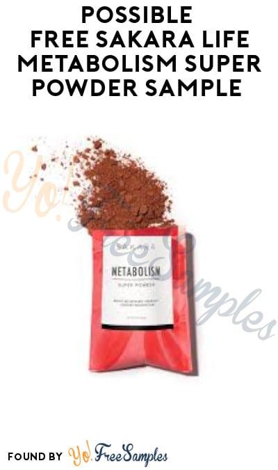 Possible FREE Sakara Life Metabolism Super Powder Sample (Facebook Required)