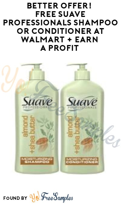 FREE Suave Professionals Shampoo or Conditioner at Walmart + Earn A Profit (Checkout51 Required)