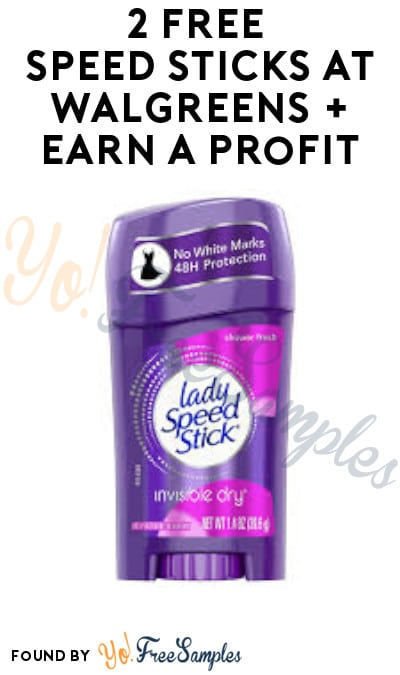 2 FREE Speed Sticks at Walgreens + Earn A Profit (Online Only + Account/Coupons Required)