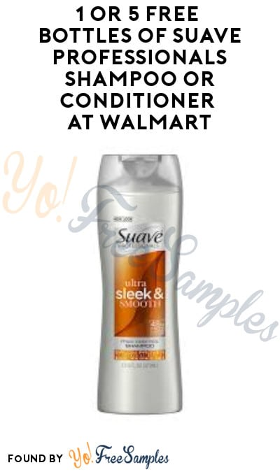 1 or 5 FREE Bottles of Suave Professionals Shampoo or Conditioner at Walmart + Earn A Profit (Checkout51 Required)