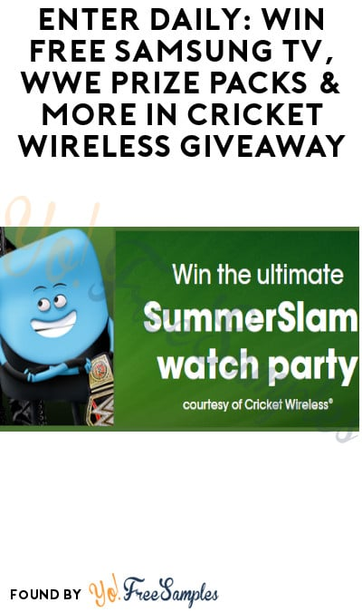 Enter Daily: Win FREE Samsung TV, WWE Prize Packs & More in Cricket Wireless Giveaway