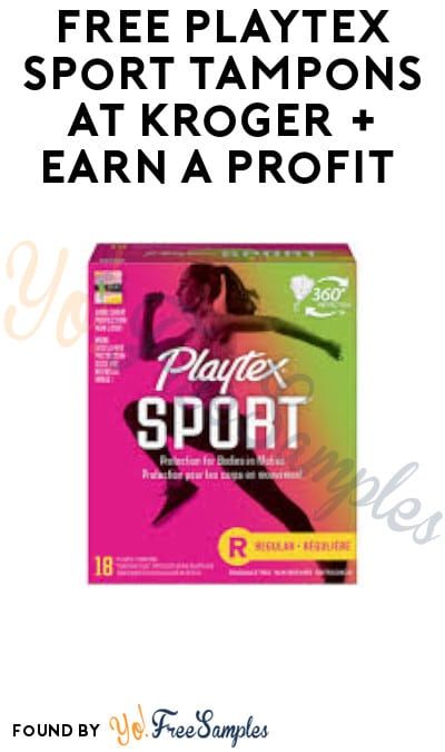 FREE Playtex Sport Tampons at Kroger + Earn A Profit (Account & Ibotta Required)