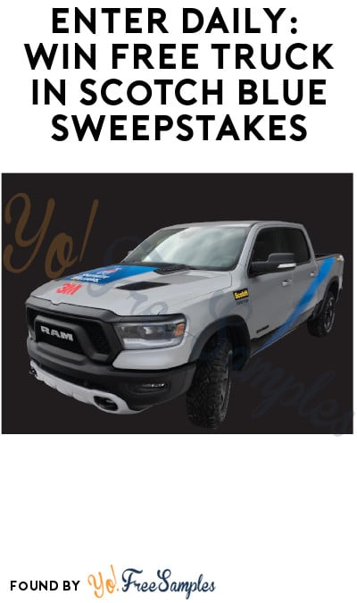 Enter Daily: Win FREE Truck in Scotch Blue Sweepstakes