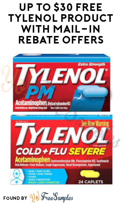 Extended! Up to $30 FREE Tylenol Product with Mail-In Rebate Offers