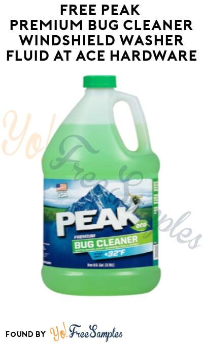 FREE Peak Premium Bug Cleaner Windshield Washer Fluid at Ace Hardware (Rewards Account Required)