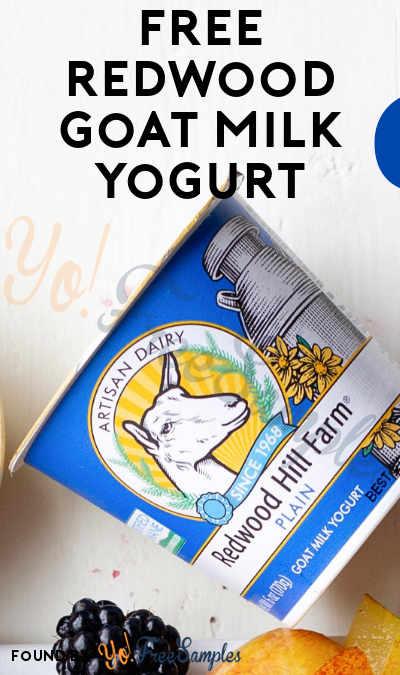 FREE Redwood Goat Milk Yogurt