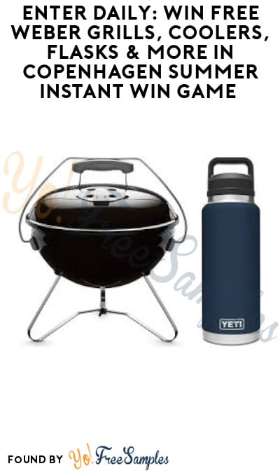 Enter Daily: Win FREE Weber Grills, Coolers, Flasks & More in Copenhagen Summer Instant Win Game (Ages 21 & Older Only)