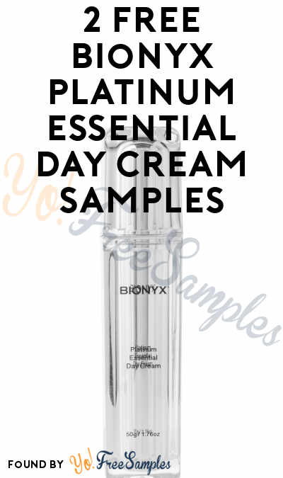 2 FREE Bionyx Platinum Essential Day Cream Samples