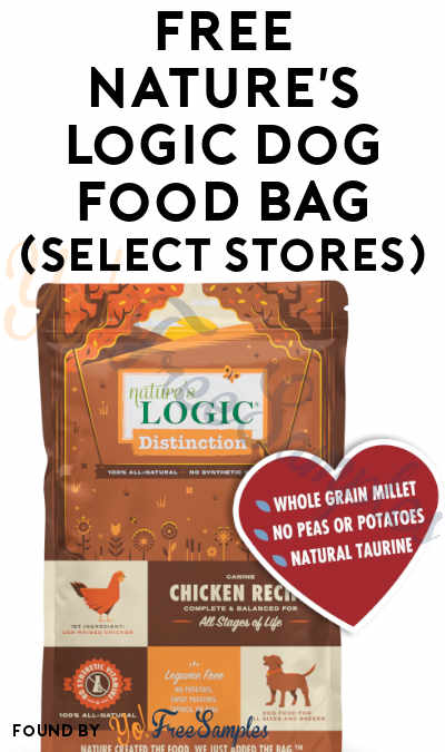 FREE Nature's Logic Dog Food Bag (Select Stores)