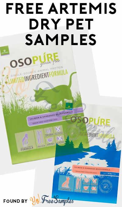 FREE Artemis Dry Pet Food Samples