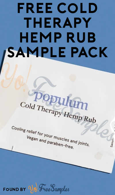 FREE Cold Therapy Hemp Rub Sample Pack