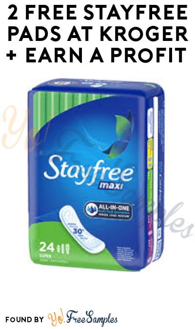 2 FREE Stayfree Pads at Kroger + Earn A Profit (Account & Ibotta Required)