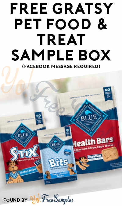 FREE Gratsy Pet Food & Treat Sample Box (Facebook Message Required)