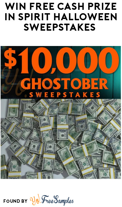 Win FREE Cash Prize in Spirit Halloween Sweepstakes
