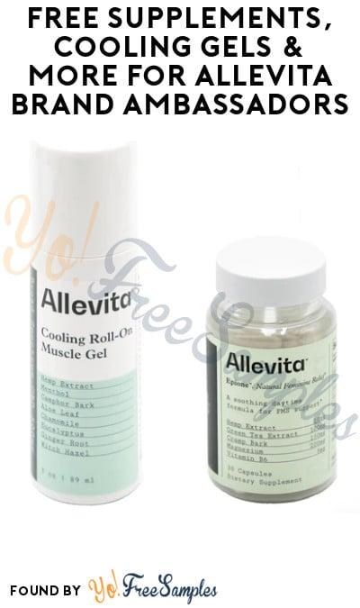 FREE Supplements, Cooling Gels & More for Allevita Brand Ambassadors