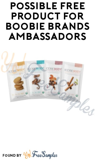 Possible FREE Product for Boobie Brands Ambassadors (Instagram Required + Must Apply)