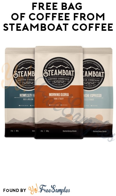 FREE Bag of Coffee from Steamboat Coffee (Credit Card Required)