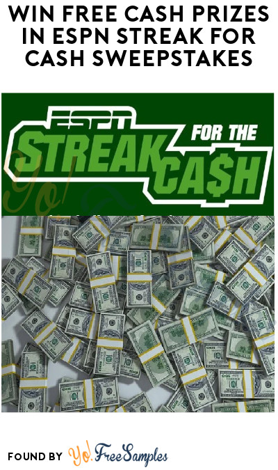 Win FREE Cash Prizes in ESPN Streak for Cash Sweepstakes