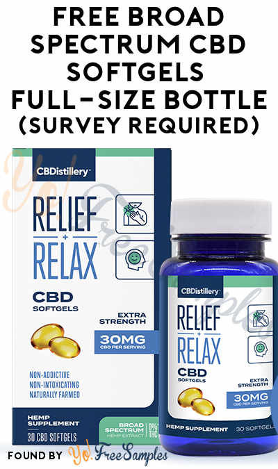 FREE Broad Spectrum CBD Softgels Full-Size Bottle (Survey Required) [Verified Received By Mail]