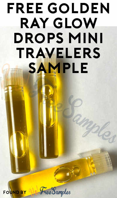 FREE Golden Ray Glow Drops Mini Travelers Sample