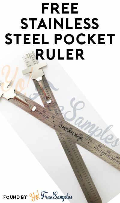 FREE Stainless Steel Pocket Ruler