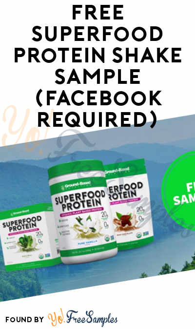 FREE Superfood Protein Shake Sample (Facebook Required)