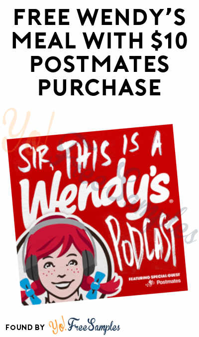 FREE Wendy's Meal With $10 Postmates Purchase (PostMates Required)