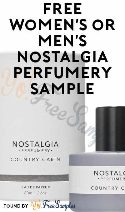 FREE Women's or Men's Nostalgia Perfumery Sample