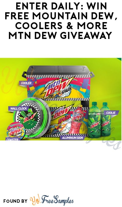Enter Daily: Win FREE Mountain Dew, Coolers & More MTN Dew Giveaway (Select States Only)