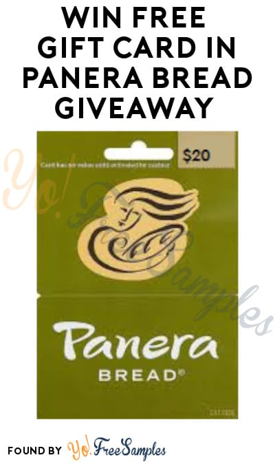 Win FREE Gift Card in Panera Bread Giveaway (Email Required)