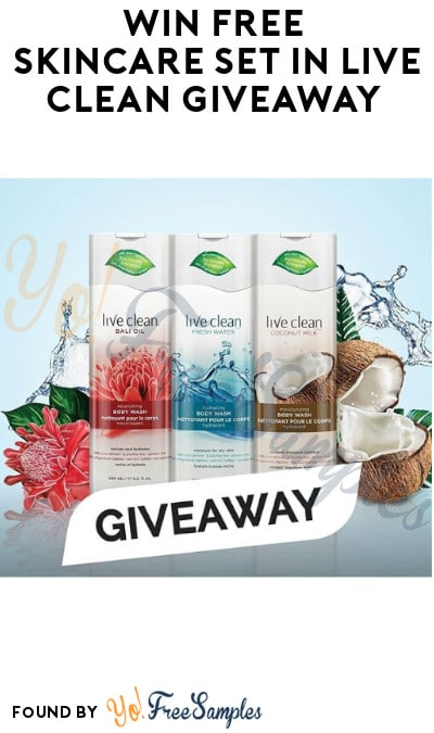 Win FREE Skincare Set in Live Clean Giveaway (Instagram Required)