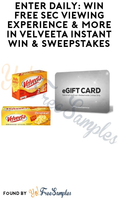 Enter Daily: Win FREE SEC Viewing Experience & More in Velveeta Instant Win & Sweepstakes