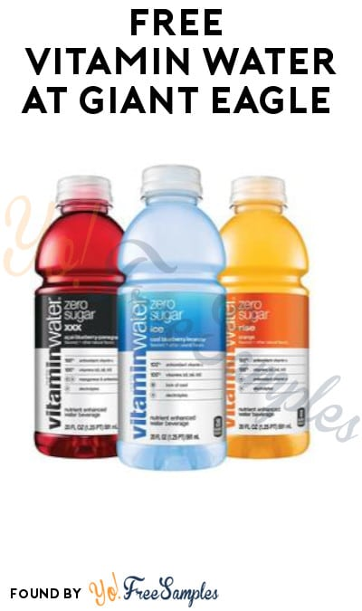 FREE Vitamin Water at Giant Eagle (Account/ Coupon Required)