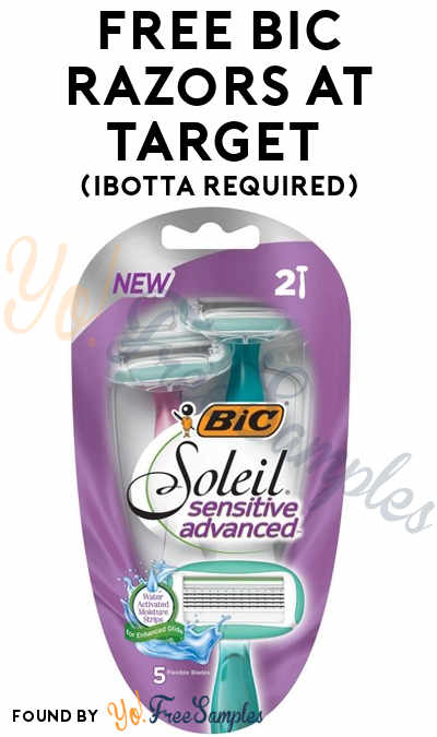 FREE BIC Soleil Sensitive Advanced Women's Razor at Target (Ibotta Required + In-Stores Only)
