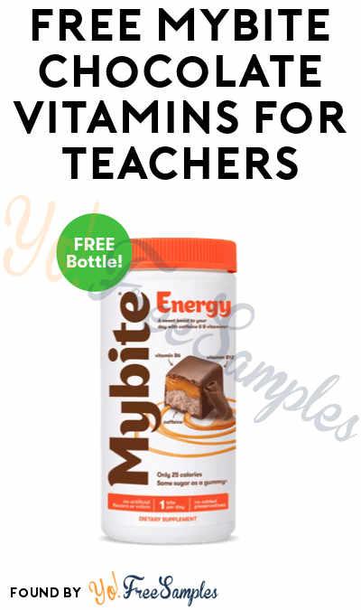 New Offer: FREE Mybite Chocolate Vitamins For Teachers